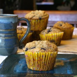 Jumbo Banana Blueberry Muffins