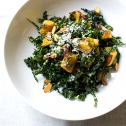 Kale Salad with Roasted Squash and Cheddar