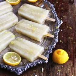 Lemon Lime Sherbet Pops