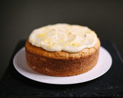 Lemon Ricotta Cake with Mascarpone