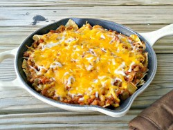 Lentil Sloppy Joe Nacho Casserole
