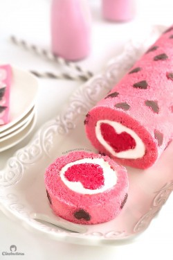 """Love is All Around"" Cake Roll"