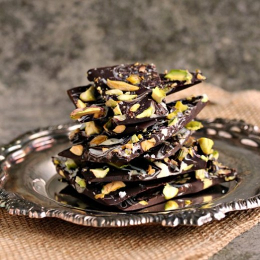 Marbled Bark with Pistachios