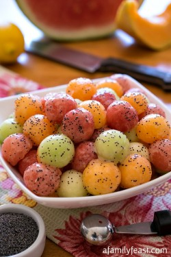 Melon Balls Poppy Seed Dressing