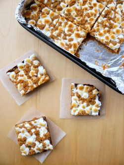 Mexican Dark Chocolate S'mores Bars