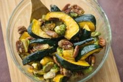 Mustard Glazed Squash and Sprouts