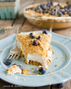 No-bake Light Blueberry Cheese Cake