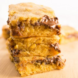 Nutella Brown Butter Blondies