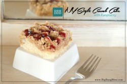 NY Style Crumb Cake with Raspberry