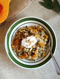 One Pan Rice and Butternut Squash