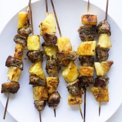 Oven Roasted Jerk Chicken Kabob