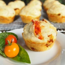 Oven-Dried Tomato and Basil Muffins