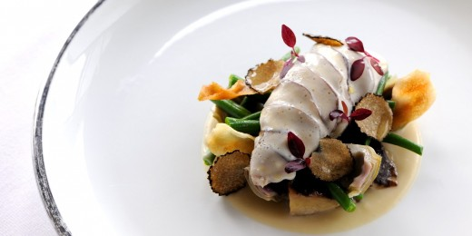 Partridge Breast with Mushrooms and Truffle