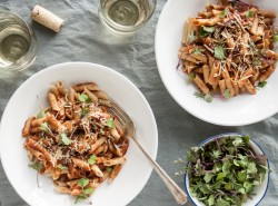 Penne with Za'atar Tomato Sauce