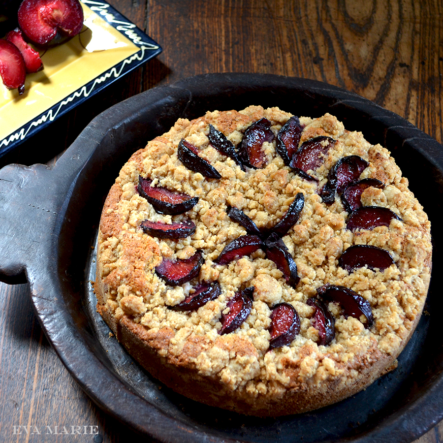 Plum Crumble Cake