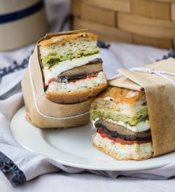 Portobello Pressed Sandwich