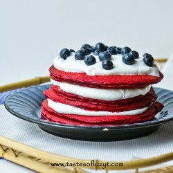 Red Pancakes with Boxed Cake Mix Recipe