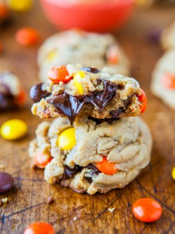 Reeses Pieces Soft Peanut Butter Cookies Recipe