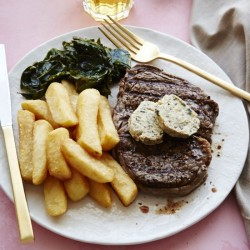 Rib Eye Steaks with Zaatar Butter
