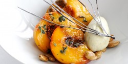 Roast Peaches with Lemon Thyme