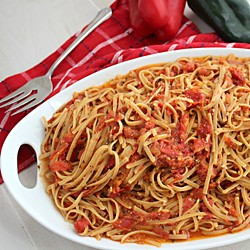 Roasted Tomato Sauce with Pasta