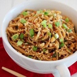 Simple Asian SoyPeanut Noodles