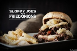 Sloppy Joes with Fried Onions Recipe