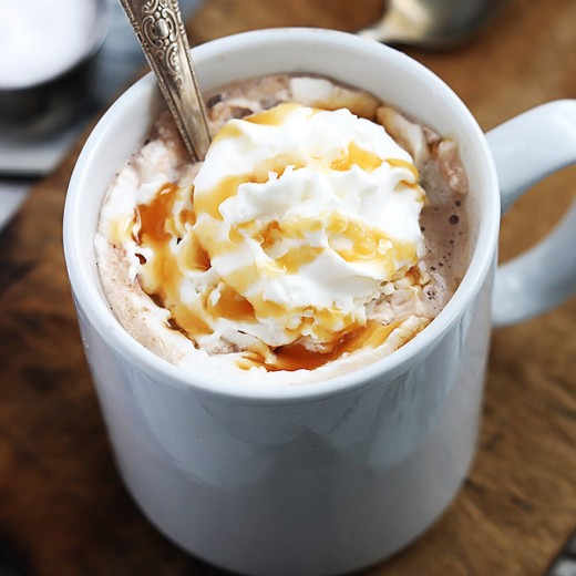 Slow Cooker Salted Caramel Hot Choc