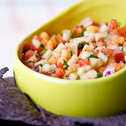 Spicy Melon Salsa with Sriracha