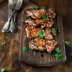 Sticky Asian-Style Chicken Thighs