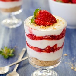 Strawberries and Cream Parfait Lightened Recipe