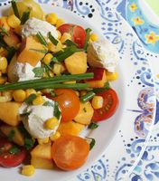 "Summer Salad w Fresh ""Mozzarella"""