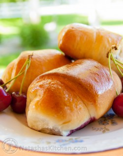 Sweet Cherry Filled Buns (Buchty)