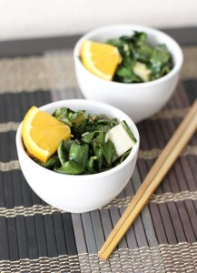 Sweet Orange-Sesame Bok Choy