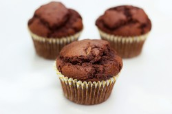 Whole-Grain Chocolate Zucchini Muffin