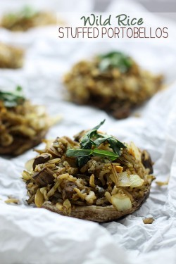 Wild Rice Stuffed Portobellos