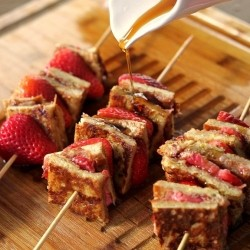 Almond Butter-Strawberry Kabobs
