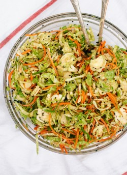 Asian Brussels Sprout Slaw