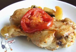 Baked Chicken with Tomatoes