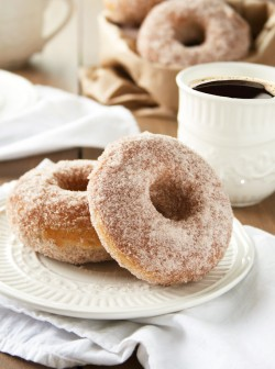 Baked Cinnamon and Sugar Donuts