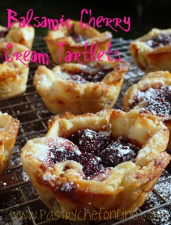 Balsamic Cherry Cream Tartlets Recipe