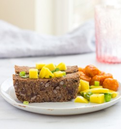 Black Bean Loaf with Mango Salsa
