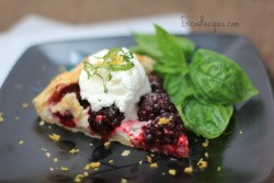 Blackberry Basil Galette with Lemon Cream