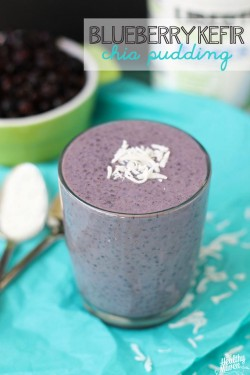Blueberry Kefir Chia Pudding