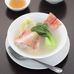 Boiled Whole Rockfish in Ginger Broth