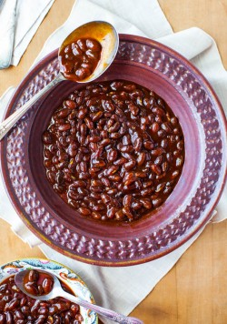 Bourbon Maple Baked Beans
