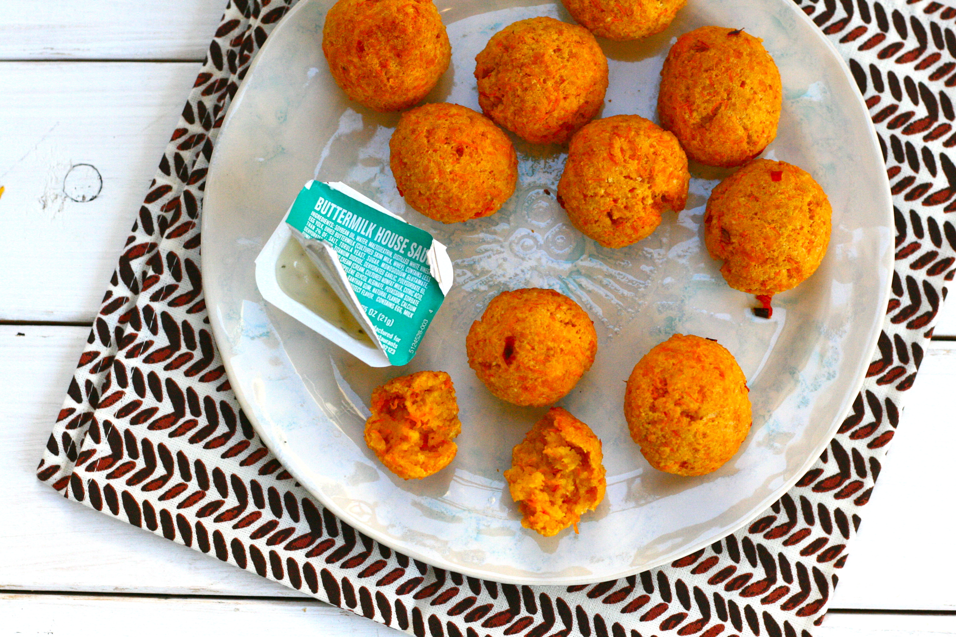 Carrot Cheese Bites