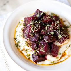 Celery Root with Roasted Beets and Herbs Recipe