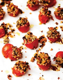 Cherry Tomatoes with Panko and Herb