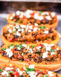 Chipotle Turkey Stuffed Squash